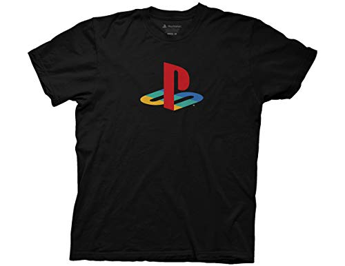 Ripple Junction Playstation Sony Playstation Logo Adult T-Shirt 2XL Black