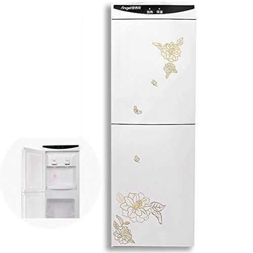 DLT Top Load Water Cooler Dispenser 5 Gallonen, freistehende Wasserspender, abnehmbare Wasserfass Sitz Edelstahl, Weiß und Gold Flower (Edition : Cold and Room Temp and hot Water)