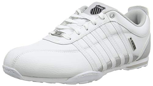 K-Swiss Mens Arvee 1.5 Sneaker, White/Microchip/Black, 44 EU