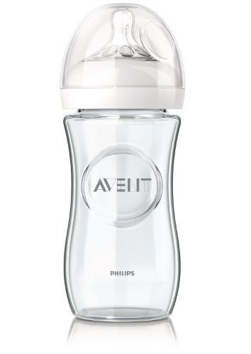 Philips Avent SCF673/17 Naturnah-Glasflasche, transparent, 1er Pack (1 x 240 ml)