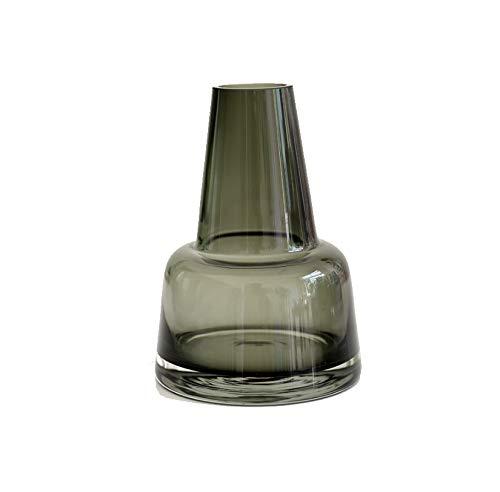 rainbowhh Florero de Vidrio Decorativo para el hogar Empalme Arreglo Floral Minimalista Moderno Sala de Estar Mesa de Comedor Conjunto Negro