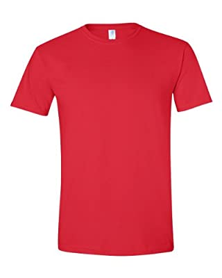 Gildan Men's Softstyle Ringspun T-shirt - Medium - Red