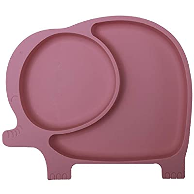 Suction Plates for Baby,Silicone Plates for Toddler Kids Feeding Supplies Fits Most Highchair,BPA Free Dishwasher Microwave Safe by NICINGU