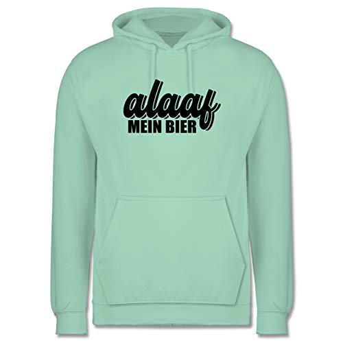 Karneval & Fasching - Alaaf Mein Bier - schwarz - S - Mint - JH001_Hoodie_Herren - JH001 - Herren Hoodie und Kapuzenpullover für Männer