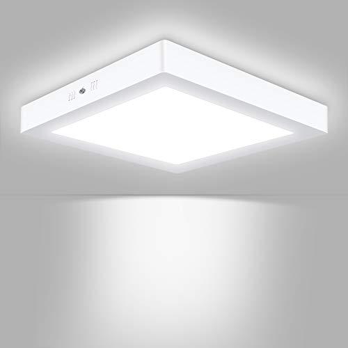 Unicozin LED Deckenleuchte Quadrat, Ersetzt 150W Glühbirne, 24W 2000LM, Kaltweiß(6000K), 30x3.8cm, Metall Rahmen Led Deckenlampe, Ideal für Schlafzimmer Küche Wohnzimmer