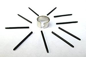 10 Pack Black Replacement Nibs with Removal Ring for Wacom Bamboo & Intuos Pens