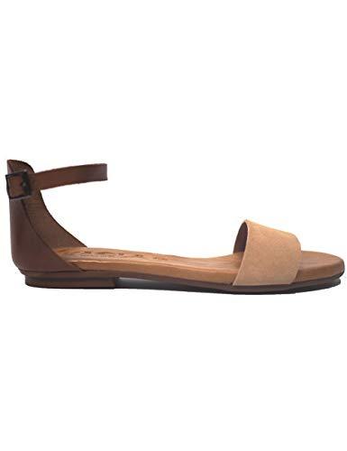 Sandalias para Mujer Kaola 581 Serraje-Vaq Nude-Abedul