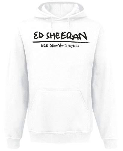 Ed Sheeran Collab Hood Männer Kapuzenpullover weiß XXL, 50% Baumwolle, 50% Polyester, Band-Merch, Bands