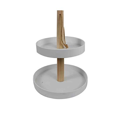 Holz-Etagere mit 2 Ebenen in weiß, perfekt für Ihre besonderen Anlässe