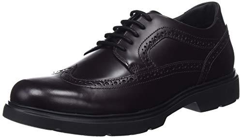 Geox U ARRALL B, Zapatos de Cordones Brogue Hombre, (Dk Burgundy C7357), 42 EU