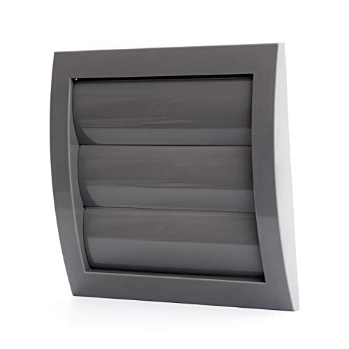 "Vent Systems 6"" Dryer Vents Cover - Gray - and Bathroom Exhaust Vents Pipe, White Louvered Outdoor Dryer Vent Cover Opening Flap Vent Keeps Out Insects, Birds and Rodents, Air Vent Cover"