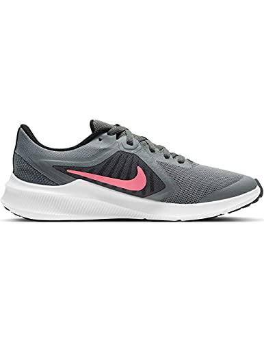 Nike Downshifter 10, Zapatillas, Smoke Grey Sunset Pulse Black, 35.5 EU