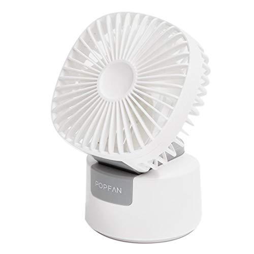 LKK-KK Escritorio portátil de Doble propósito del Ventilador, la Oficina del Estudiante Sacudiendo pequeño Ventilador, Ventilador portátil USB Silencio, Tres velocidades de Velocidad del Viento