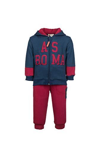 AS Roma Jungen AS Rom Baby Sportanzug mit Kapuze Jacke, Blau, 18 Monate