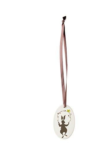 Hutschenreuther Lemon oval/ 7, 5 x 4, 5 cm Porzellan-Anhänger-Ei, Gelb, 7.5 x 4.5 cm