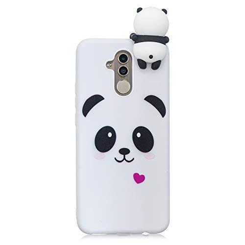 LeviDo Coque Compatible pour Huawei Mate 20 Lite Étui Silicone Cute 3D Panda Modèle Souple Bumper TPU Gel Caoutchouc Antichoc Cover pour Fille Homme Femme, Panda