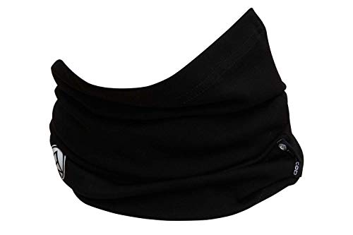 Hilltop scaldacollo da moto, scaldacollo multifunzionale, sciarpa tubolare, bandana, sciarpa - 100% cotone, colore/disegno:nero