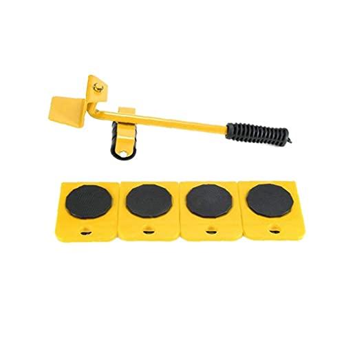 Naisicatar Rodillo Muebles Levantador Mover Juego de Herramientas de Muebles Deslizante Heavy Duty Muebles para los sillones sofás Refrigeradores 5PCS Amarillo