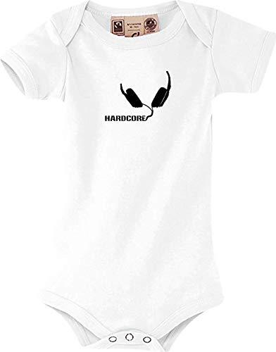 Shirtstown body pour bébé, head musiclogo hardcore-casque-kult taille 0-18 mois - Blanc - blanc, 12-18 Monate