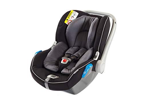 Silla de coche infantil Avionaut Kite+ | silla de seguridad infantil ligera | silla de coche grupo 0+ (0-13kg, 40cm-86cm) | para bebés de 0 a 12 meses | Grafitoe/Negro