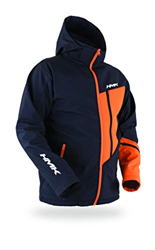 HMK Pinnacle Softshell Jacket (Black/Orange, 2XL)