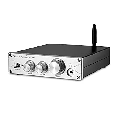 Douk Audio G3 PRO Bluetooth 5.0 Power Amp & Headphone Amplifier, Support APTX, with DAC chip, 100W x 2, Works for 2.0 Channel Passive Speakers (Silver) from Nobsound