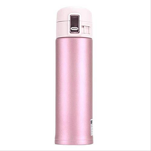 WEQRT Edelstahl-Isolierflasche Cup Edelstahl Bounce Cover Cup Thermosflasche Reisebecher Für Das Home Office Im Freien 500Ml 500Ml Pink