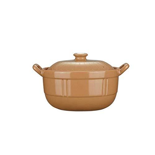 Materiales de primera clase, mano de obra exquisit Olla de sopa de cocina para casas, olla de cerámica de llama de alta temperatura, cazuela resistente al calor, olla multifunción ( Size : 25.5cm )