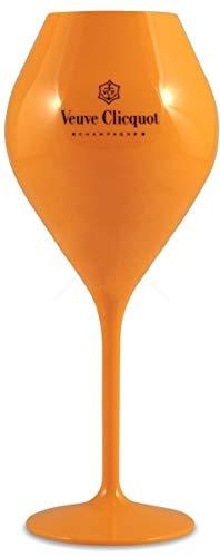 Veuve Clicquot Acrylic Champagne Flute Yellow Label x 1