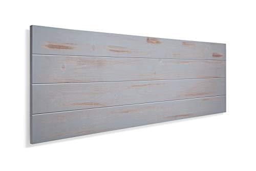 SUENOSZZZ-ESPECIALISTAS DEL DESCANSO Cabecero de Cama de Madera TREVINCA Color Gris Vintage para Pared. Cabecero de Tablas Horizontales. Estilo Vintage, para Camas de 135