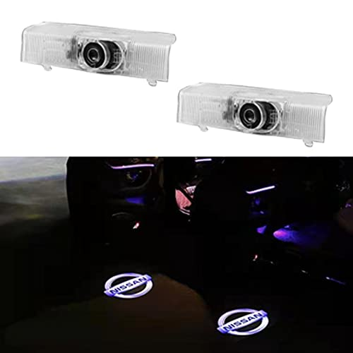 U/B (2Pack) Car Door Lights Projector Shadow Ghost Lights Welcome for Nissan Altima Armada Maxima Quest Titan Accessories LED Puddle Light Logo 3D Looking