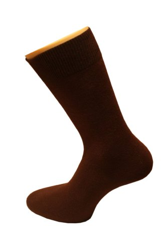 Weri Spezials Chaussettes Uni pour Hommes. Couleur: Chocolat, Taille: 43-46