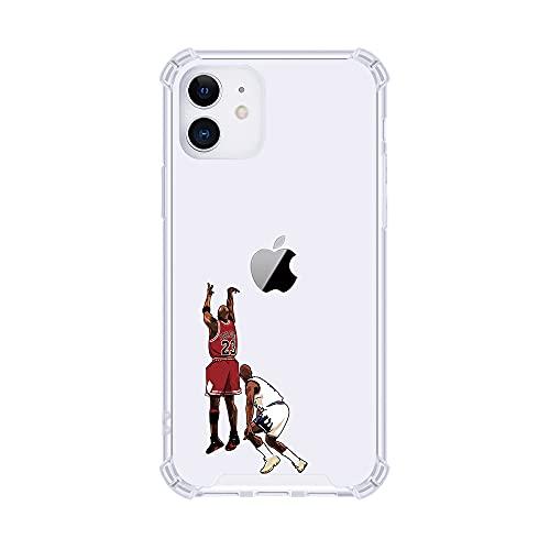 Schutzhülle für Apple iPhone (MJ, X/XS) mit Basketball-Sternen, ultradünn, kristallklar, weich, transparent