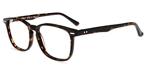 Firmoo Blaulichtfilter Brille ohne Sehstärke Damen, Herren Computerbrille Entspiegelt gegen Kopfschmerzen Augenmüde, Blaulicht UV Schutzbrille für Bildschirme Leopard