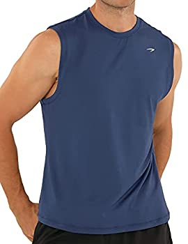Men s Quick Dry Sleeveless Shirts Bodybuilding Tank Tops for Athletic Workout Gym Fitness Training Ball Blue