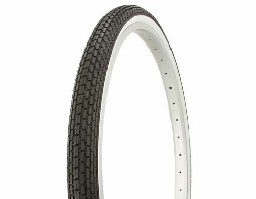 1 Pair of Duro Brick Tread Tire - White Wall Tire (x2) - 26' x 1.75'