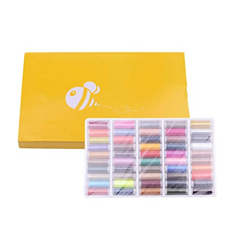 Affordable Li qig 50 Colors Sewing Thread Kit Manual Embroidery Sewing Machine Threads Polyester Qui...