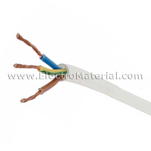 WERDEN - Cable manguera blanca H05VV-F 3x4 mm (Venta por metros)