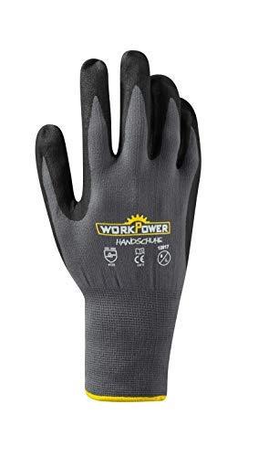 Werkkleding ruiten nitril beschermende handschoen Pluto maat: 10