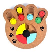 Interactive Wooden Food Feeder Dog Puzzle Toy