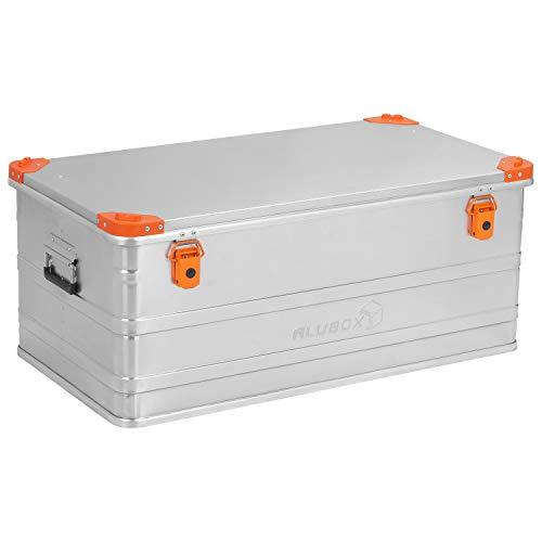 ALUBOX D140 Premium Aluminium Lagerbox Alukiste 140 Liter mit Stapelecken
