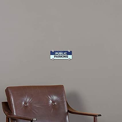 Stripes Blue Premium Acrylic Sign 5-Pack 8x3 CGSignLab Public Parking