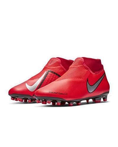 Nike Phantom Vsn Academy Dynamic Fit MG, Scarpe da Calcio Uomo, Rosso (Bright Crimson/Metallic Silver 600), 42 EU