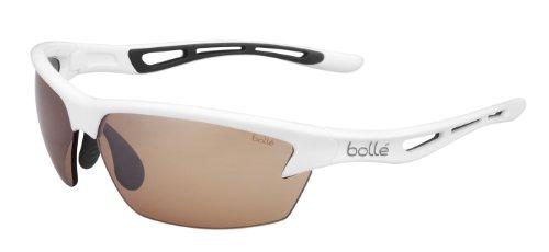 Bolle Bolt Sunglasses, Shiny White/Gray, Modulator V3 Golf oleo AF