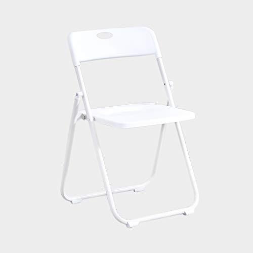 Solid Color Plastic Stoel, handige draagtas klapstoel ruimtebesparende Stoel Multifunctionele Stoel Thuis Stoel Eetkamer Chair (Color : White)