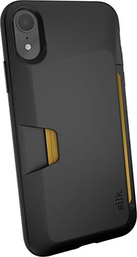 Smartish iPhone XR Wallet Case - Wallet Slayer Vol. 1 [Slim + Protective] Credit Card Holder for Apple iPhone 10R (Silk) - Black Tie Affair