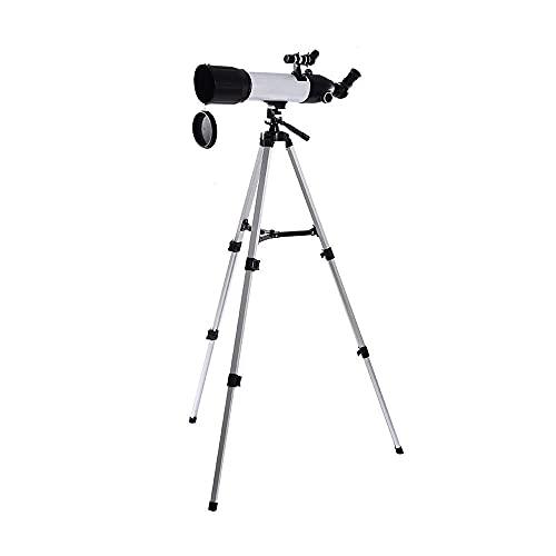 Telescopio para adultos, principiantes, niños, 80 mm de apertura, 500 mm AZ Telescopio astronómico refractor con adaptador para teléfono inteligente y trípode BAK4 Prism FMC Lente Telescopio para