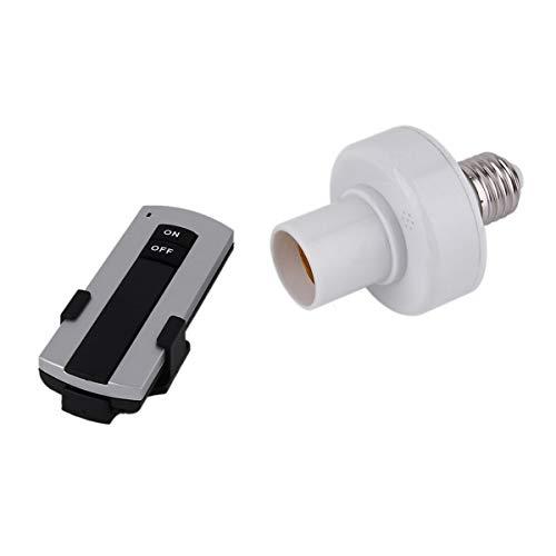 Greatangle profesional E27 tornillo inalámbrico control remoto luz bombilla titular Bases Cap socket interruptor lámpara Accesorios 220 V blanco