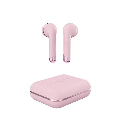 HAPPY PLUGS 完全ワイヤレスイヤホン AIR1 軽量/最長14時間再生/Bluetooth対応/AAC対応/通話対応 ピンクゴ...