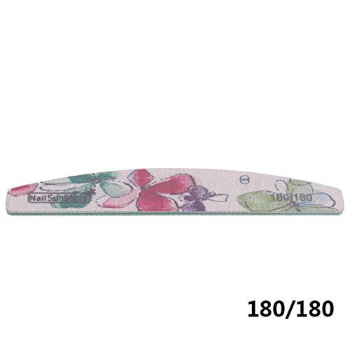Windyi5 180/180 Grit Limas uñas Floral Buffer Interno